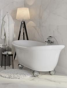 Salini ALBA –  Классическая отдельностоящая ванна из литьевого мрамора на ножках