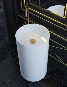 Salini ARMONIA Раковина-моноблок из литьевого мрамора, отдельностоящая