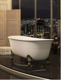 Salini EGIDA –  Классическая отдельностоящая ванна из литьевого мрамора на ножках