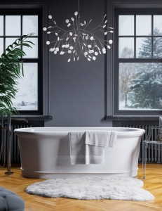 Salini ELIA – Монолитная отдельностоящая ванна из литьевого мрамора