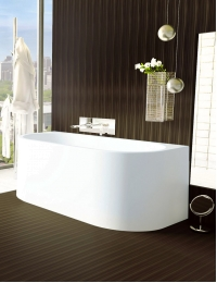 Salini Giada – Монолитная пристенная ванна из литьевого мрамора