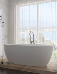 Salini LUCE – Монолитная отдельностоящая ванна из литьевого мрамора