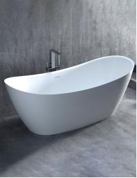 Salini NOEMI Basso Отдельностоящая ванна из литого мрамора, без подиума