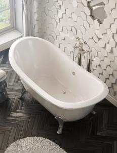 Salini ORIA –  Классическая отдельностоящая ванна из литьевого мрамора на ножках