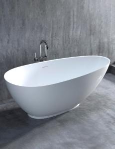 Salini PAOLA 172 – Отдельностоящая ванна из литого мрамора, на подиуме