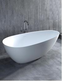Salini PAOLA Basso 172 Отдельностоящая ванна из литого мрамора, без подиума