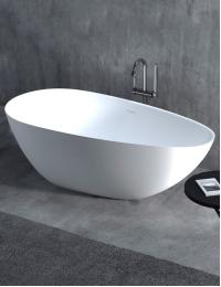 Salini PAOLA – Монолитная отдельностоящая ванна из литьевого мрамора