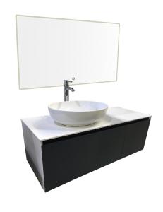STREET Bathroom Furniture Тумба со столешницей, 120 см скошенный фасад, Fenix W&G