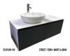 STREET Bathroom Furniture 120 Fenix White&Gray – Тумба со столешницей, 2 ящика