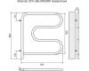 Terminus F-образный – Электрический полотенцесушитель из нержавеющей стали