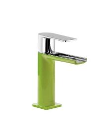 Tres Loft-Colors 200.110.01.VED Каскадный смеситель на раковину, Хром/Зелёный