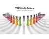 Tres Loft-Colors 20010301BLD Смеситель однорычажный на раковину, Хром/Белый