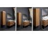 Подвесной пенал для ванной Vallessi 836-W/Z/A/C/L/D с одной распашной дверцей