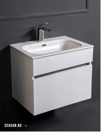 Armadi Art Vallessi 837-060-W Тумба 60 см, керамический-моноблок, Белый глянец