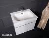 Тумба 60 см VALLESSI 837-060-W glossy с керамической перламутровой раковиной