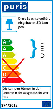 Энергоэффективная светодиодная LED подсветка используется в мебели Puris (Германия)