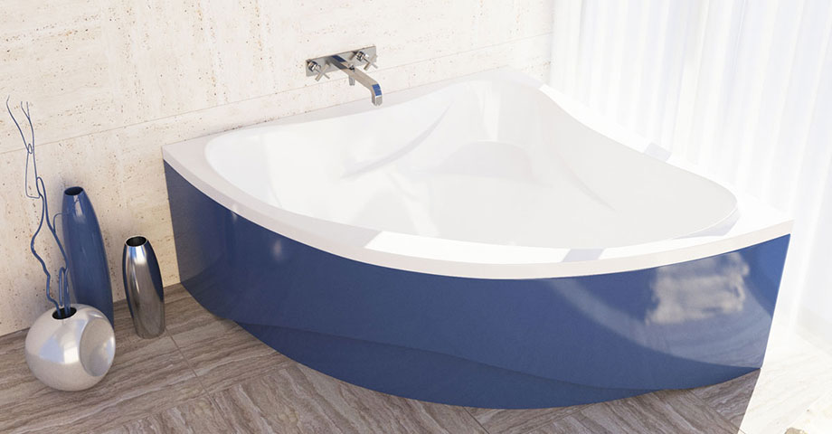 AquaStone Флорида ванна угловая в цвете из палитры RAL