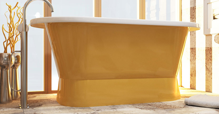 AquaStone Венеция ванна отдельностоящая в цвете из палитры RAL