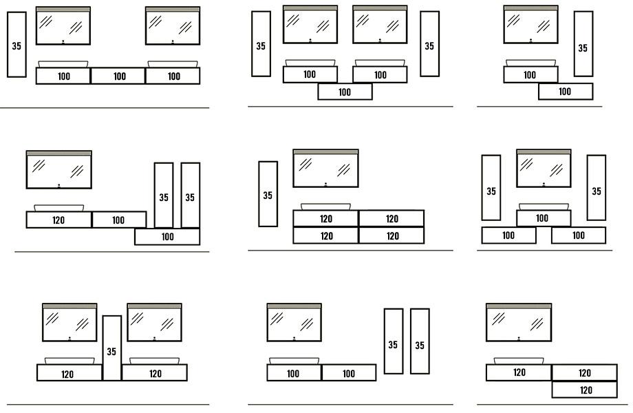 Примеры возможных комплектов Aqwella Genesis