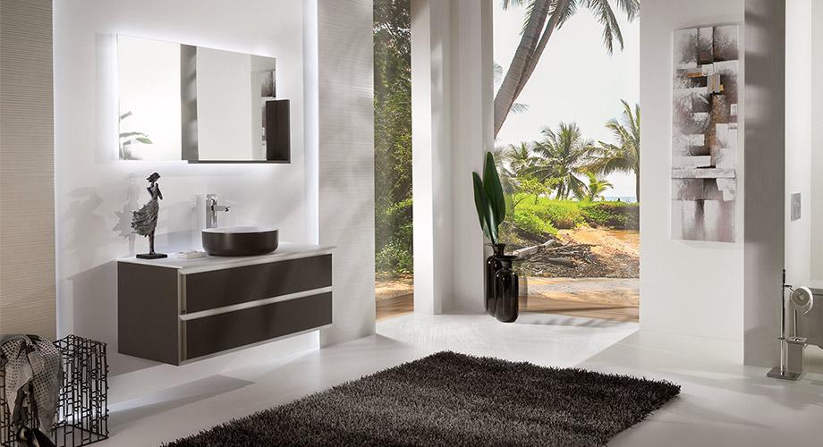 Мебель для ванной Armadi Art Moderno Cube CBL с накладной раковиной-чашей
