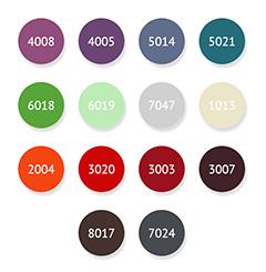 Стандартная цветовая палитра Astra-Form для цветных ванн из литьевого мрамора