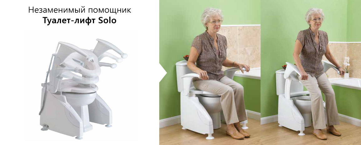 Наглядный пример работы Туалета-лифта Bocchi Solo