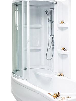 Асимметричная гелькоутная ванна Bretto Tibr