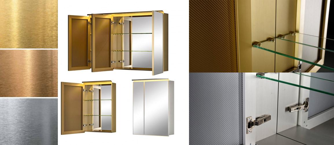 Зеркальные шкафы De Aqua Aluminium
