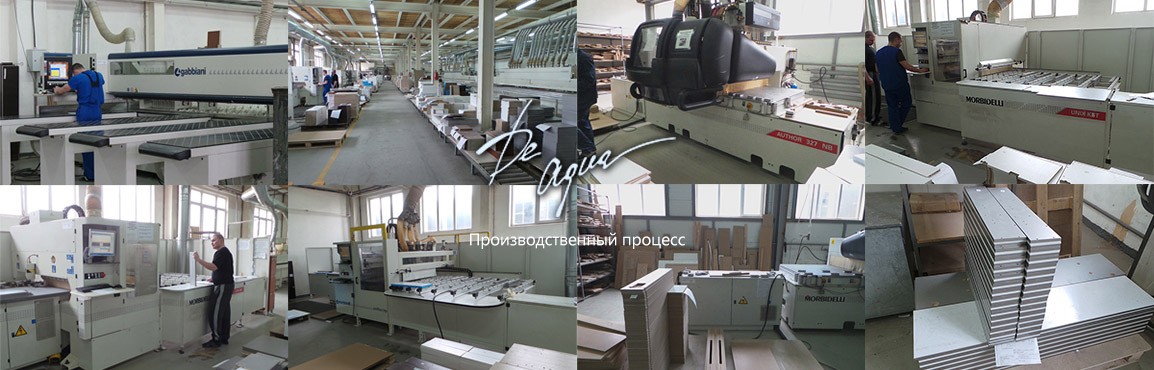 Производственный процесс мебели для ванной DeAqua Россия