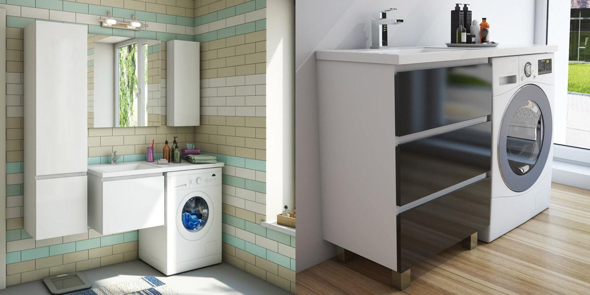 Эстет мебель для ванной, мебель под стиральную машину