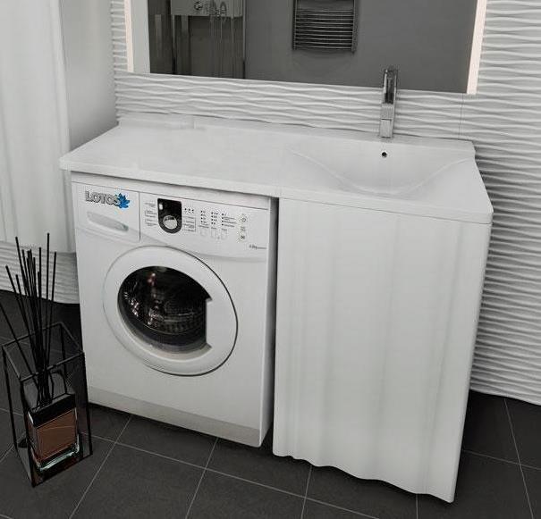 Мебель под стиральную машину Lotos Алисия 120 (артикул 60 + 61) - распашные дверцы