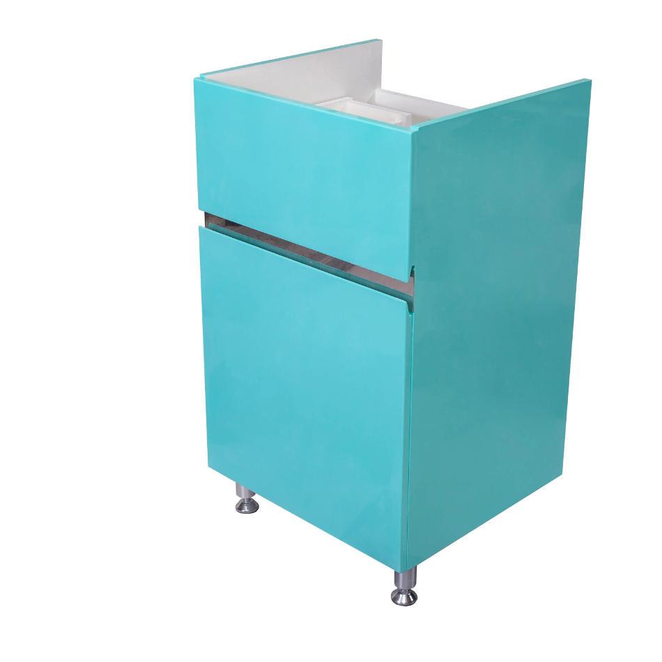 Мебель под стиральную машину Lotos 115 (Лотос 115) арт.94 – тумба с раковиной, 2 выдвижных ящика и бельевая корзина