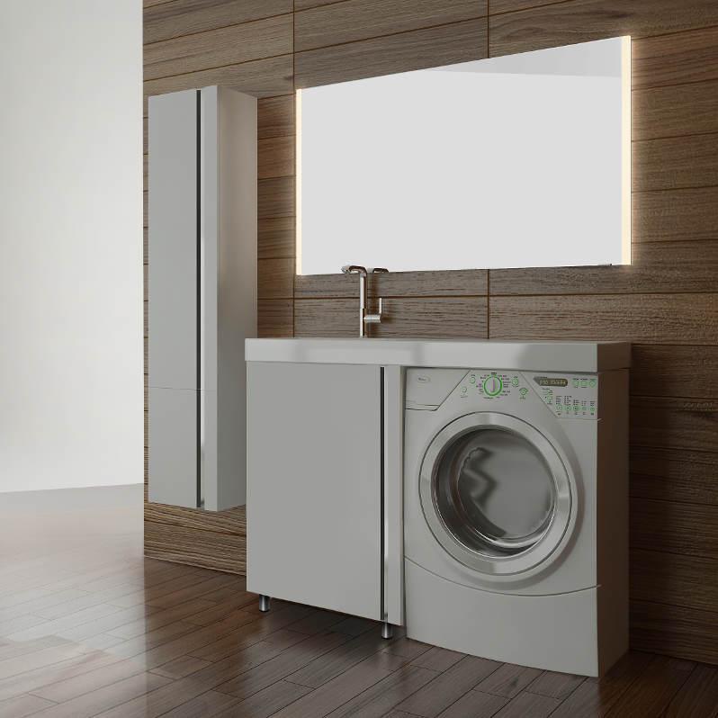 Мебель под стиральную машину Lotos 120 (Лотос 120) 256 – тумба с раковиной и одной дверью