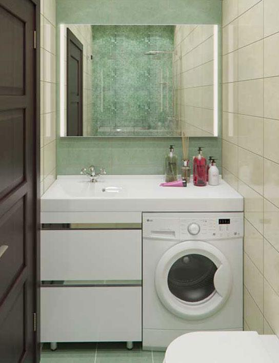Столешница под стиральную машину для ванной