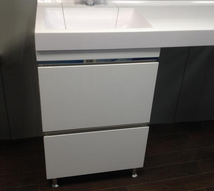 Мебель под стиральную машину Lotos 120 (Лотос 120) 56 – тумба с раковиной и двумя выдвижными ящиками