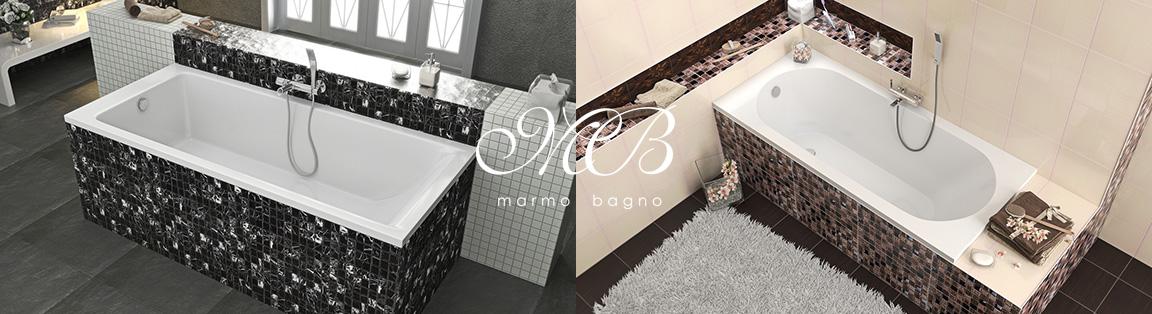 Производитель сантехники Marmo&Bagno – ванны и душевые поддоны из искусственного мрамора