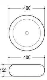 Техническая схема. Размеры раковины Melana MLN-A373-S03