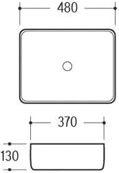 Техническая схема. Размеры раковины Melana MLN-A022-K01