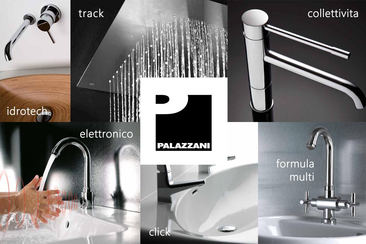 Сантехника Palazzani - смесители, душевые системы и душевые стойки. Производство смесителей в Италии. Огромное количество коллекций сантехники.