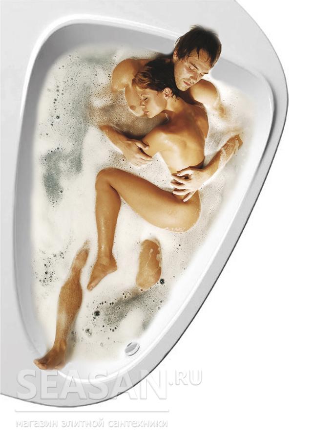 Ravak LoveStory II ванна для влюблённых в форме сердца, ванна для двоих