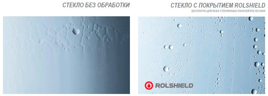 Стёкла компании ROLTECHNIK покрываются защитным нанопокрытием ROLSHIELD