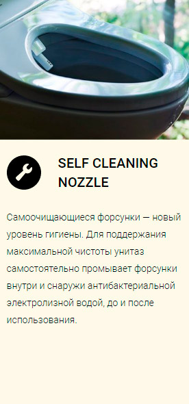 SELF CLEANING NOZZLE TOTO