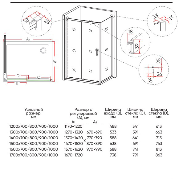 Техническая таблица Veconi RV-063
