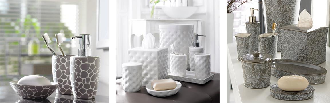 Аксессуары для ванной — мыльницы, щеткодержатели, стаканы, дозаторы