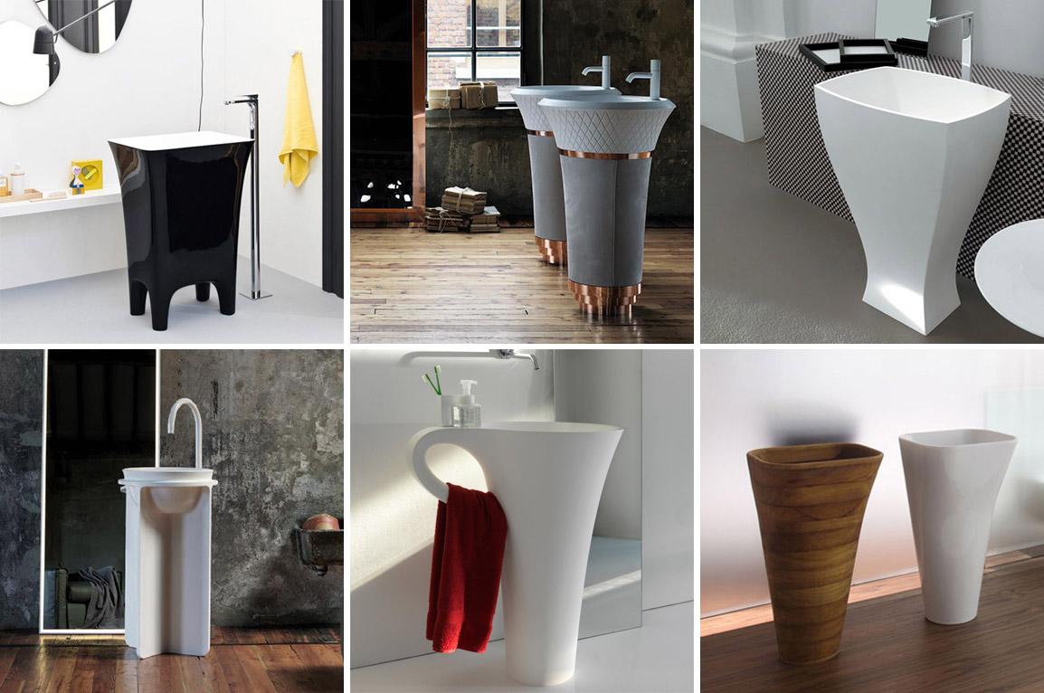 Напольные раковины для ванной | Раковины моноблок | Раковины консоли