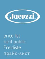 Прайс-лист Jacuzzi 2015